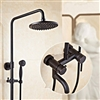 "Ashland 8"" Wall Mounted Shower set in Oil Rubbed Bronze Finish"