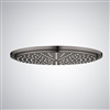"20"" Bronze Finish Round Color Changing LED Waterfall Rain Shower head"