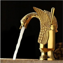 Hooper Gold Finish Bathroom Sink Faucet