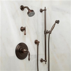 Oil Rubbed Bronze & Chrome Finish Shower System