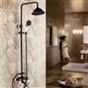 Allora Oil Rubbed Bronze Finish Bathroom Shower Set