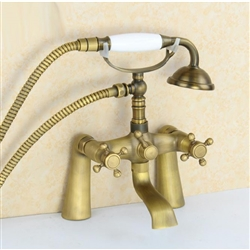 Antique Finish Claw Foot Bronze Bathtub Faucet