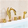 LaRochelle-Gold-Bathtub-Faucet-Mixer-With-Handheld-Shower