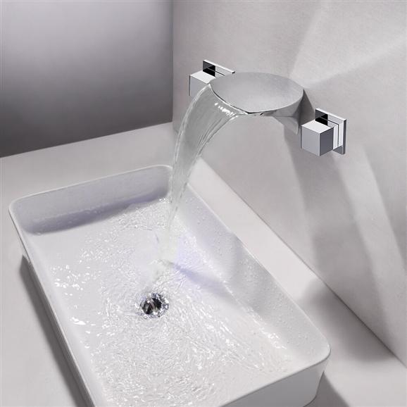 Sao Luis Led Wall Mounted Bathroom Sink Faucet