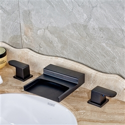 Ottawa-Waterfall-LED-Bathroom-Sink Faucet-Ool Rubbed Bronze Finish