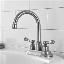 Rennes Dual Handle Solid Brass Bathroom Sink Faucet