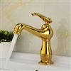 Montreuil Single Handle Gold Bathroom Sink Faucet