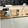 Penne Single Handel Chrome Waterfall Sink & Bathtub Faucet