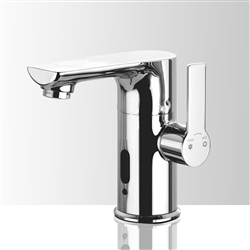 Genoa Sensor Single Handle Deck Mount Commercial Automatic Bathroom Sink Faucet