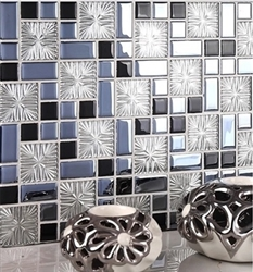 BathSelect-Black-Square-Patterned-Mosaic-Wall-Tile