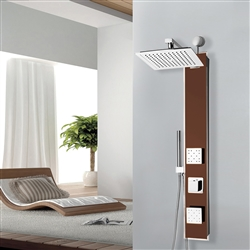 BathSelect Rainfall Wall Mount Oil-Rubbed Bronze Shower Panel with Hand Shower