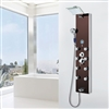 BathSelect Elegant Stainless Steel Oil Rubbed Bronze Rainfall Shower Panel with Body Massage & Hand Shower