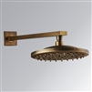 "BathSelect Ancient Round Antique Brass 8"" Rainfall Wall Shower Head"