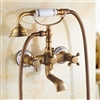 BathSelect Beautiful Antique Brass Bathroom Faucet with Hand-Held Shower