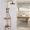 "Bathselect Antique Style Shower-Head 8"" with Faucet & Had Shower"