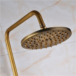 "BathSelect Rotatable Antique Style Shower-Head 8"" with Faucet & Hand Shower"