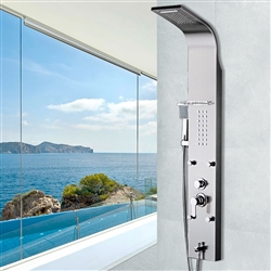 BathSelect Chrome Multi Function Shower Panel Stainless Steel