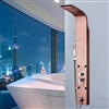 BathSelect Rose Gold Multi Function Shower Panel Stainless Steel