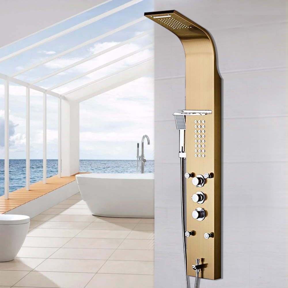 BathSelect Gold Multi-Function Rain Shower Thermostatic