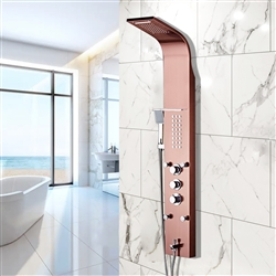 BathSelect Rose Gold Multi-Function Rain Shower Thermostatic