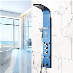Bathselect Blue Multi Function Rain Shower Thermostatic