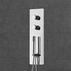 Bathselect Thermostatic Wall Mount Chrome Hand-Shower