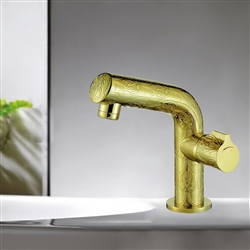 Bathselect Gold Sink Faucet Single Hole Solid Brass Material