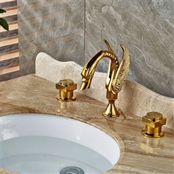 "BathSelect Dragon Golden Finish 8"" Deck Mount Faucet"