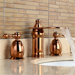 BathSelect Beautiful Deck Mount Faucet Rose Gold Dual Handle