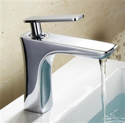 BathSelect Sleek Design Chrome Short Deck Faucet