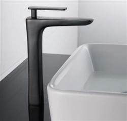 BathSelect Sleek Design Black Long Deck Faucet