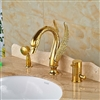 "Bathselect Golden Swan 4"" Deck Install Bathtub Faucet with Hand Shower"