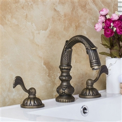 BathSelect Classic Deck Mount Faucet Antique Dual Handle