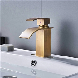 BathSelect Antique Brass Single Handle Bathroom Sink Faucet