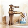BathSelect Queen Golden Crown Antique Mount Faucet