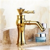 Bathselect Queen Golden Crown Gold Mount Faucet
