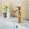 BathSelect Stylish Short Curve Gold Polished Deck Mount Faucet