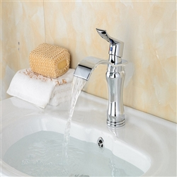 BathSelect Stylish Short Curve Chrome Polished Deck Mount Faucet