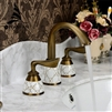 BathSelect Antique Brass Three Piece Basin Sink Faucet