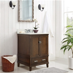 "BathSelect Elegant Dark Walnut 24"" Bathroom Vanity"