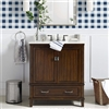 "BathSelect Elegant Dark Walnut 30"" Bathroom Vanity"