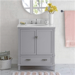 "BathSelect Elegant Gray 30"" Bathroom Vanity"