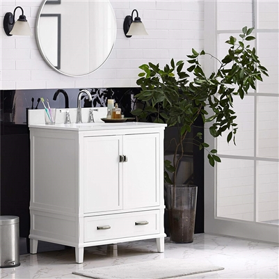 "BathSelect Elegant White 30"" Bathroom Vanity"