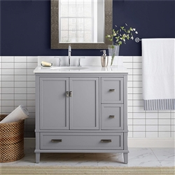 "BathSelect Elegant Gray 36"" Bathroom Vanity"