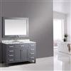 "BathSelect Amazing Gray with Marble Top 54"" Bathroom Vanity Set with Mirror"