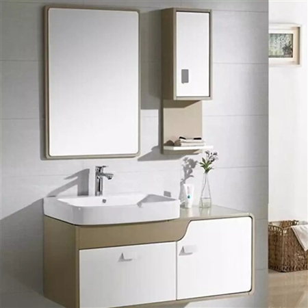 BathSelect Modern Style Solid Oak Wood Plywood Door Vanity Set