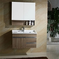BathSelect New Wooden Style Solid Oak Wood Plywood Door Vanity Set