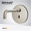Bravat In Wall Mount Brushed Nickel Commercial Electric Instant Water Heater Automatic Faucet