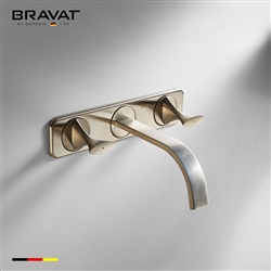 Bravat Chrome Corrosion Resistant Wall Mount Bathroom Faucet
