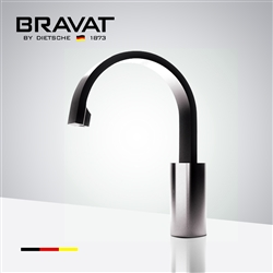 Bravat Brushed Nickel Commercial Touch Control Infrared Control Automatic Instant Hot Water Tap Electric Faucet